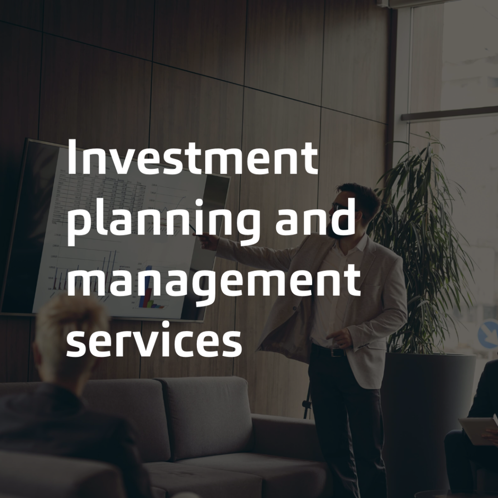 Investment planning and management services