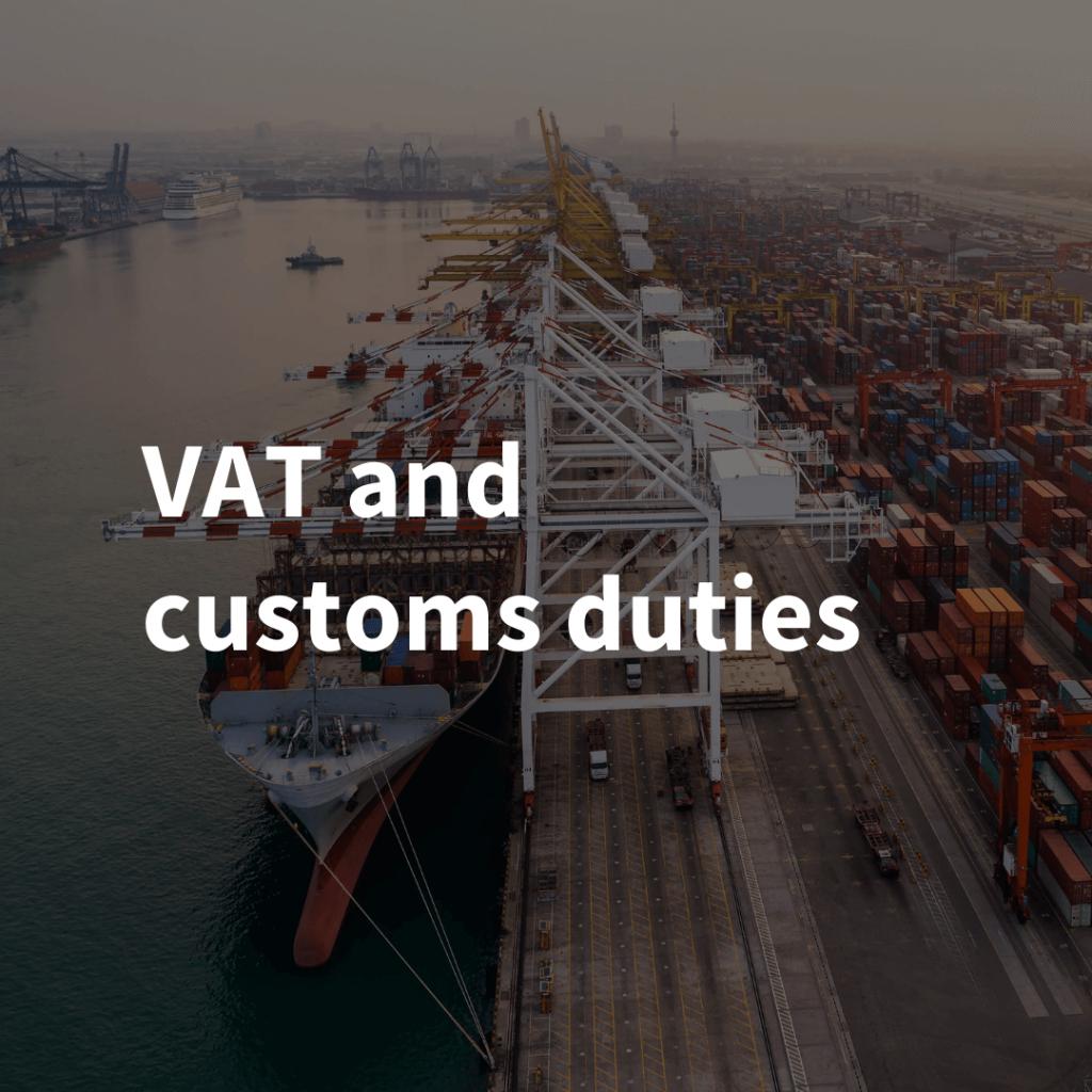 VAT and customs duties