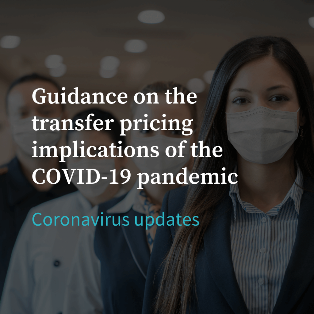 guidance on the transfer pricing implications of the covid-19 pandemic